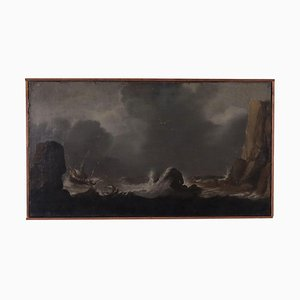 Stormy Sea, Oil on Canvas, 18th Century