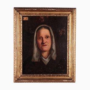 Ritratto di una vecchia signora, olio su tela, XIX secolo