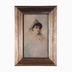 Ritratto di giovane donna, Olio su tavola, XX secolo