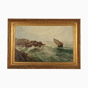 Marine Glimpse, Oil on Canvas, 20th Century
