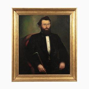 Portrait eines Mannes, Öl auf Leinwand, 1860