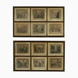 Serie di acqueforti, soggetto biblico, inizio XIX secolo, set di 2