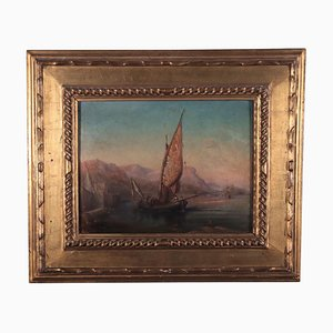 Seascape, Oil on Panel, 19th Century