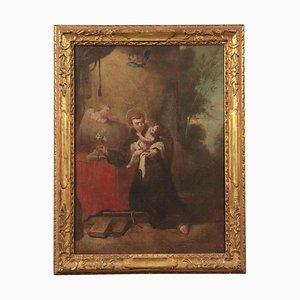 Sant'Antonio da Padova con olio di Gesù Bambino su tela