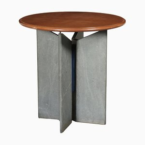 Table with Marble Base, 1980s