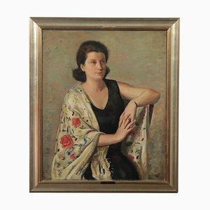 Alberto Salietti, óleo sobre lienzo, años 40