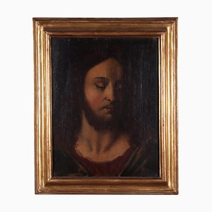 Face of Christ, Oil on Board, 18th Century