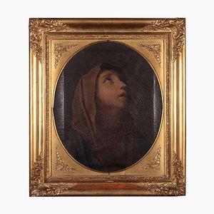 Virgin in Prayer, Oil on Canvas, Early 19th Century