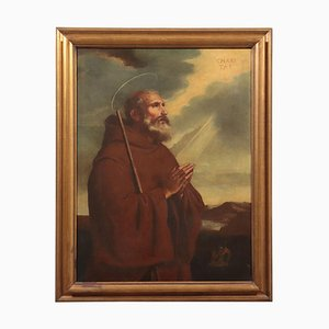 Saint Francis of Paola, Oil on Canvas, 18th Century