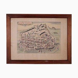Karte von Tortona, Stich, 18. Jahrhundert
