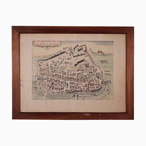 Mappa di Tortona, incisione, XVIII secolo