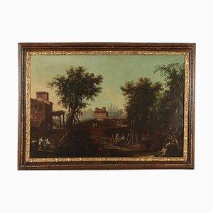 Landschaft mit Figuren, Öl auf Leinwand, 17. Jahrhundert