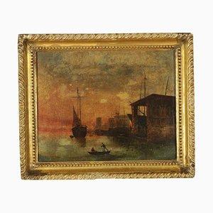 Sea Night, Oil on Canvas