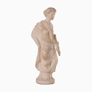 Sculpture of a Roman Matron in White Marble, Italy, 19th Century