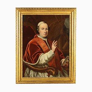 Porträt von Papst Pius VI, Öl auf Leinwand, 18. Jahrhundert