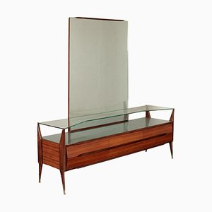 Dressing Table with Rosewood Veneer, Italy, 1950s