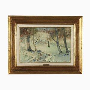Umberto Lilloni, olio su tela