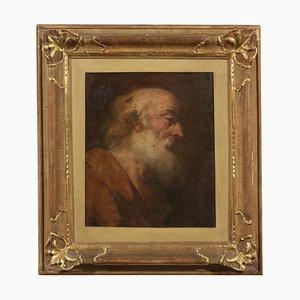 Gesicht des Propheten, Öl auf Leinwand, 18. Jahrhundert
