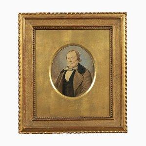 Portrait eines Mannes, Öl auf Papier, spätes 19. Jahrhundert