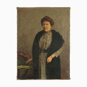 Weibliches Portrait, Öl auf Leinwand, 1910
