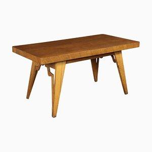 Tavolo impiallacciato in quercia, anni '40
