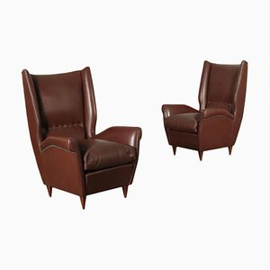 Bergere Armchairs, 1950s, Set of 2