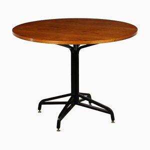 Teak Veneer & Metal Table, 1960s