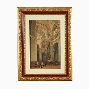 all'interno della Chiesa, 1872, Mixed Media on Paper