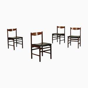 Eichen und Palisander Stühle, 1960er, 4er Set