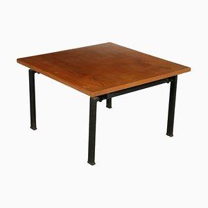 Tavolo impiallacciato in mogano, anni '60
