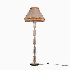 Murano Glass and Brass Lamp