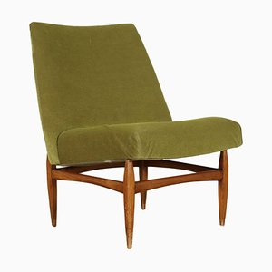 Beech Wood Lounge Chair, 1960s