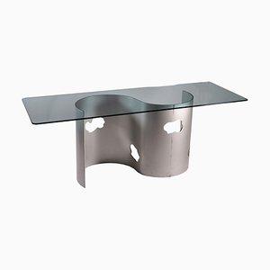 Tavolo in metallo smaltato, anni '80