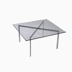 Tavolo in metallo cromato, anni '70