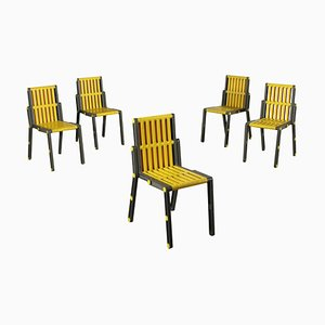 Plastic Chairs, 1980s, Set of 5
