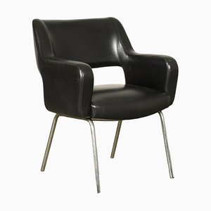 Leather Armchair, 1950s