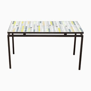 Mosaic Coffee Table with Floating Top, 1950s