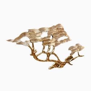 Mid Century Brass Bonsai Tree Wall Sculpture by Bijan