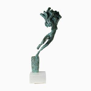 Richard Brixel, Engel, Bronze und Weißer Marmor