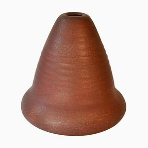 Sculptural Studio Pottery Vase with Ox Red Glaze