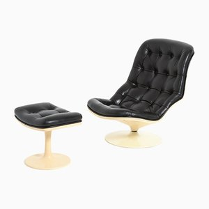 Shelby Lounge Chair with Ottoman by Georges Van Rijk for Beaufort, Set of 2