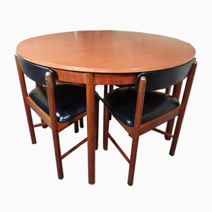 English Chairs & Extendable Teak Table from Mcintosh