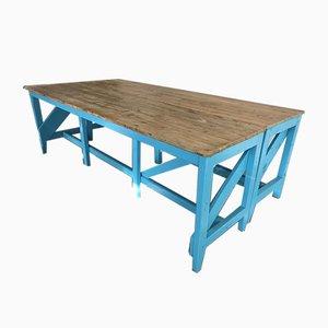 Hellblauer Industrieller Tisch, 1910er