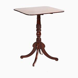 Viereckiger antiker quadratischer Mahagoni Tisch mit kippbarer Tischplatte