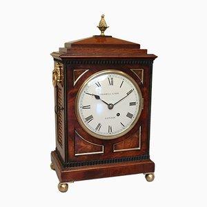 Kleine Mahagoni Fase Tischhalterung Uhr