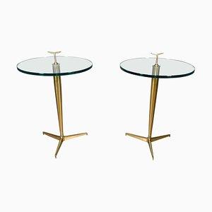 Coffee Table in Brass by Osvaldo Borsani, 1950, Set of 2