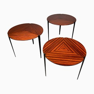Model T61 Nesting Tables by Osvaldo Borsani for Tecno, 1950s