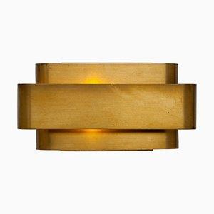 Lampada da parete piccola in ottone di Jules Wabbes, 1968