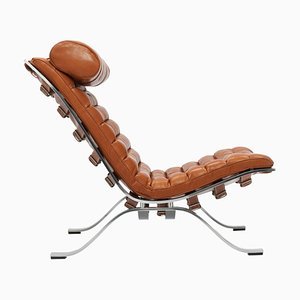 Ari Lounge Chair in Cognac Leather byArne Norell