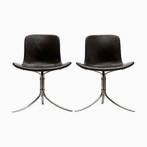 Dänischer Mid-Century PK9 Stuhl von Poul Kjaerholm für Ejvind Kold Christensen